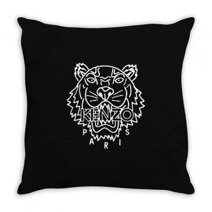 Kenzo White Tiger Throw Pillow Designed By Meganphoebe