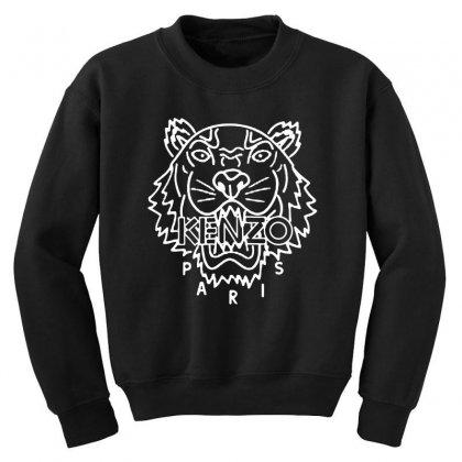 Kenzo White Tiger Youth Sweatshirt Designed By Meganphoebe