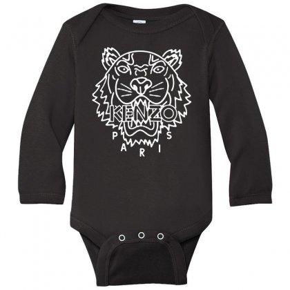 Kenzo White Tiger Long Sleeve Baby Bodysuit Designed By Meganphoebe