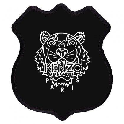 Kenzo White Tiger Shield Patch Designed By Meganphoebe