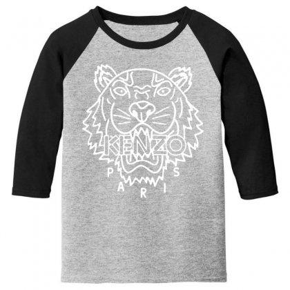 Kenzo White Tiger Youth 3/4 Sleeve Designed By Meganphoebe