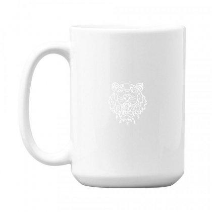 Kenzo White Tiger 15 Oz Coffe Mug Designed By Meganphoebe