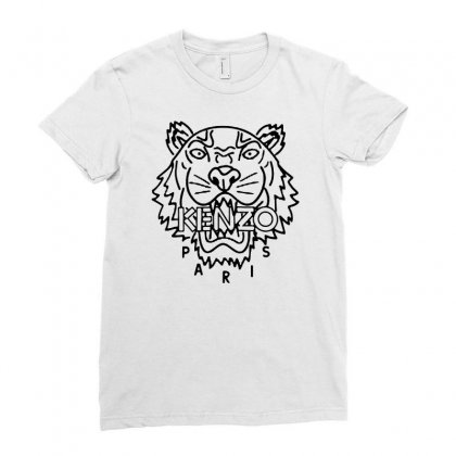 Kenzo Black Tiger Ladies Fitted T-shirt Designed By Meganphoebe