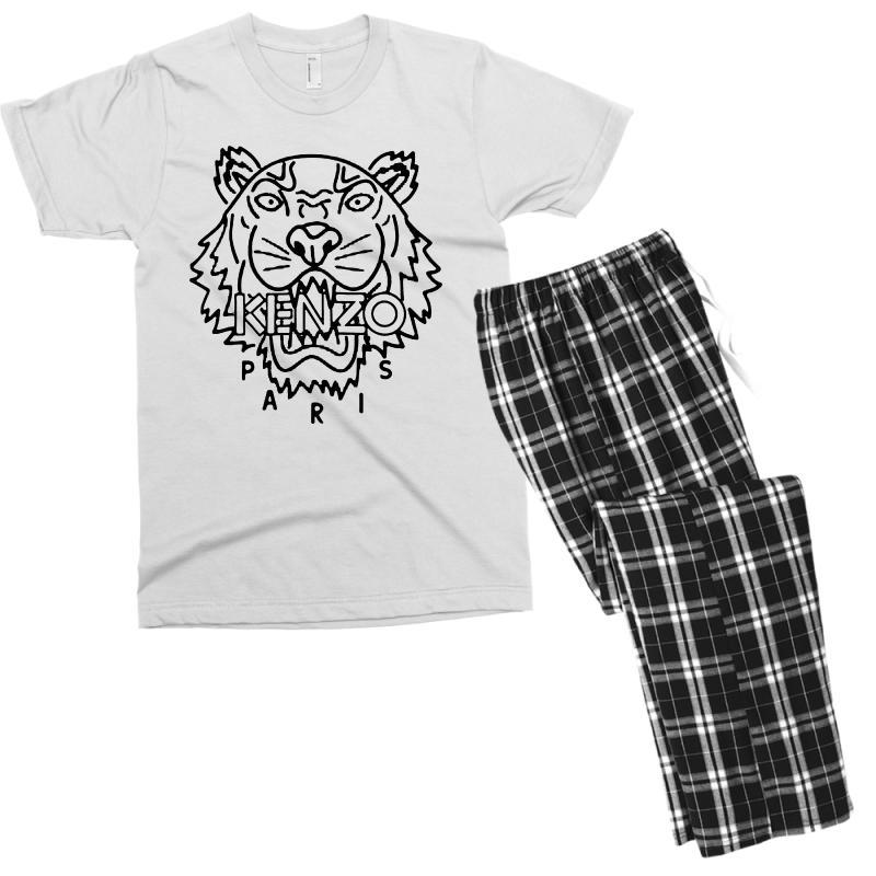 Kenzo Black Tiger Men's T-shirt Pajama Set | Artistshot