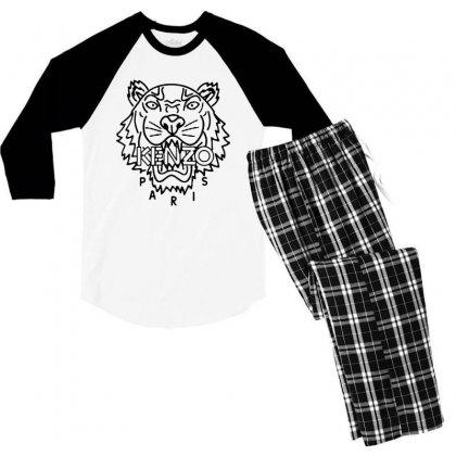 Kenzo Black Tiger Men's 3/4 Sleeve Pajama Set Designed By Meganphoebe