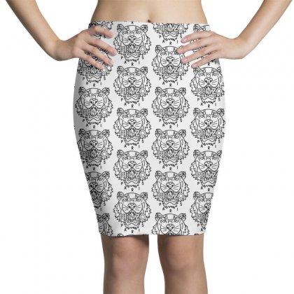 Kenzo Black Tiger Pencil Skirts Designed By Meganphoebe