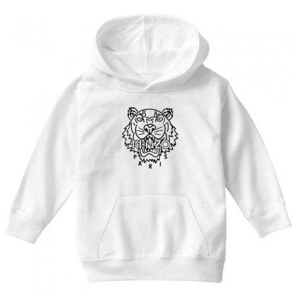 Kenzo Black Tiger Youth Hoodie Designed By Meganphoebe