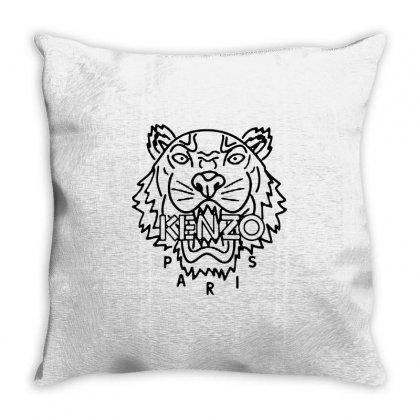Kenzo Black Tiger Throw Pillow Designed By Meganphoebe