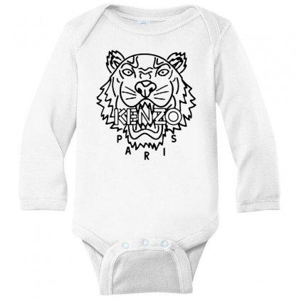 Kenzo Black Tiger Long Sleeve Baby Bodysuit Designed By Meganphoebe