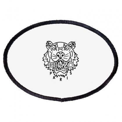 Kenzo Black Tiger Oval Patch Designed By Meganphoebe