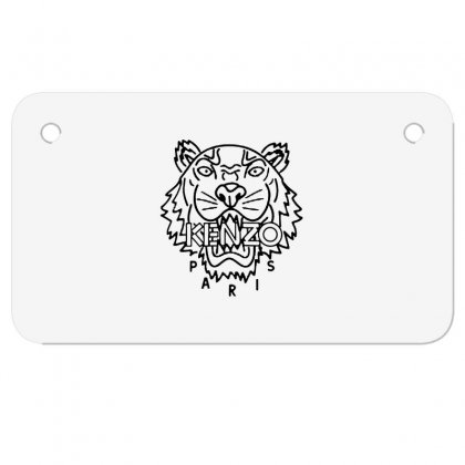 Kenzo Black Tiger Motorcycle License Plate Designed By Meganphoebe
