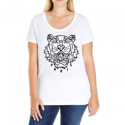Kenzo Black Tiger Ladies Curvy T-shirt Designed By Meganphoebe