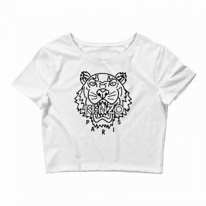 Kenzo Black Tiger Crop Top Designed By Meganphoebe