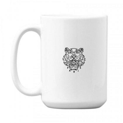 Kenzo Black Tiger 15 Oz Coffe Mug Designed By Meganphoebe