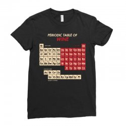 periodic table of wine Ladies Fitted T-Shirt | Artistshot