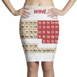 periodic table of wine Pencil Skirts | Artistshot