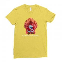 christmas is coming Ladies Fitted T-Shirt | Artistshot
