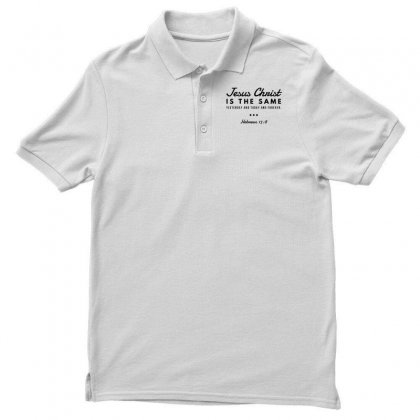 Jesus Christ Is The Same Yesterday Today And Forever Men's Polo Shirt Designed By Meganphoebe