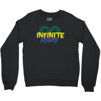 Infinite Lists Merch Infinite Lists Infinite Army Garnet Crewneck Sweatshirt Designed By Meganphoebe