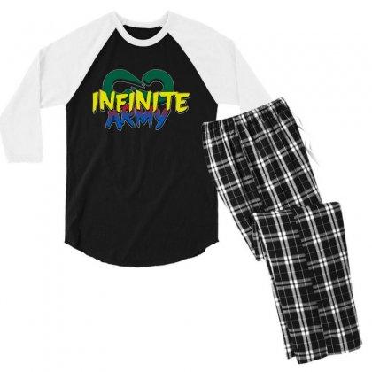Infinite Lists Merch Infinite Lists Infinite Army Garnet Men's 3/4 Sleeve Pajama Set Designed By Meganphoebe