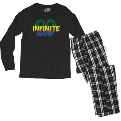 Infinite Lists Merch Infinite Lists Infinite Army Garnet Men's Long Sleeve Pajama Set Designed By Meganphoebe