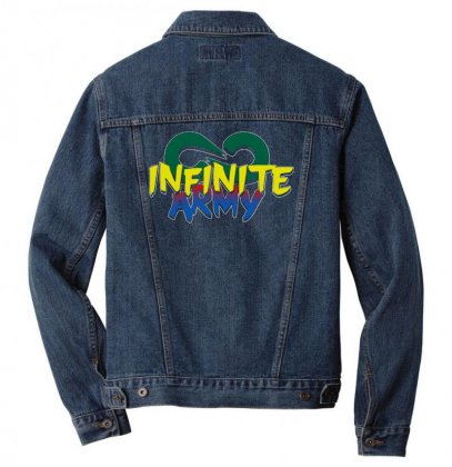 Infinite Lists Merch Infinite Lists Infinite Army Garnet Men Denim Jacket Designed By Meganphoebe