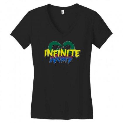 Infinite Lists Merch Infinite Lists Infinite Army Garnet Women's V-neck T-shirt Designed By Meganphoebe