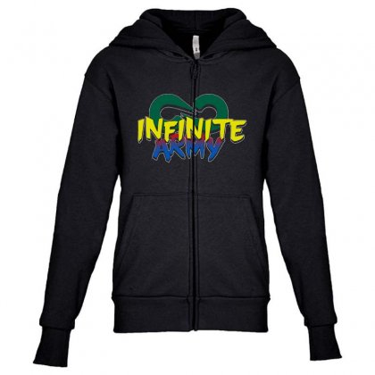 Infinite Lists Merch Infinite Lists Infinite Army Garnet Youth Zipper Hoodie Designed By Meganphoebe
