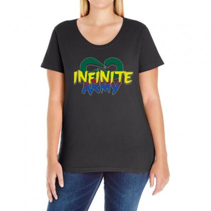 Infinite Lists Merch Infinite Lists Infinite Army Garnet Ladies Curvy T-shirt Designed By Meganphoebe