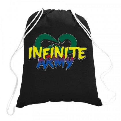 Infinite Lists Merch Infinite Lists Infinite Army Garnet Drawstring Bags Designed By Meganphoebe