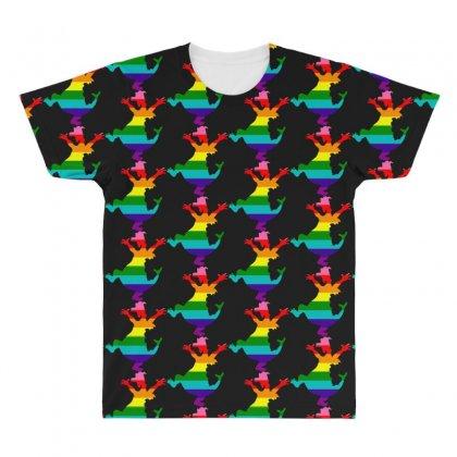 Imagine Pride All Over Men's T-shirt Designed By Meganphoebe