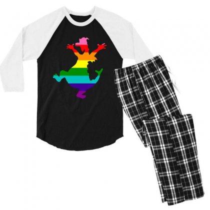 Imagine Pride Men's 3/4 Sleeve Pajama Set Designed By Meganphoebe
