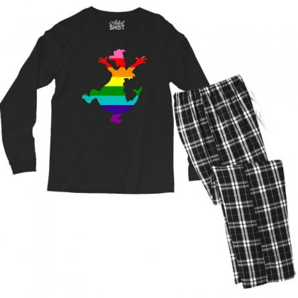 Imagine Pride Men's Long Sleeve Pajama Set Designed By Meganphoebe