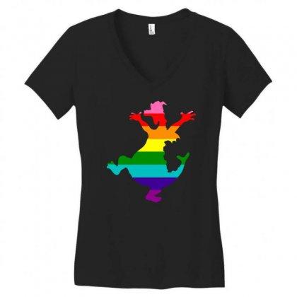Imagine Pride Women's V-neck T-shirt Designed By Meganphoebe