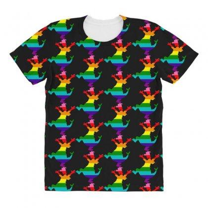 Imagine Pride All Over Women's T-shirt Designed By Meganphoebe
