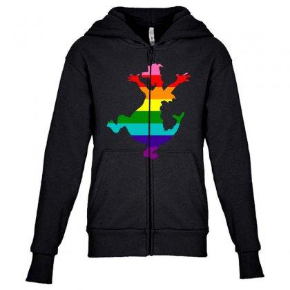 Imagine Pride Youth Zipper Hoodie Designed By Meganphoebe
