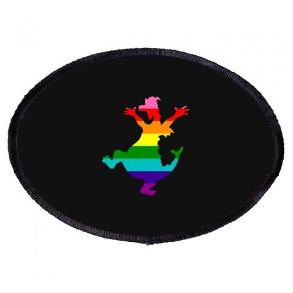 Imagine Pride Oval Patch Designed By Meganphoebe
