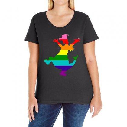 Imagine Pride Ladies Curvy T-shirt Designed By Meganphoebe