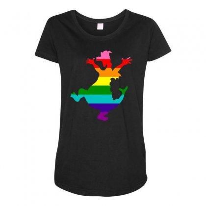 Imagine Pride Maternity Scoop Neck T-shirt Designed By Meganphoebe