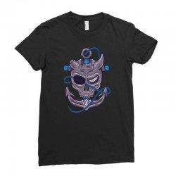 pirates skull Ladies Fitted T-Shirt   Artistshot