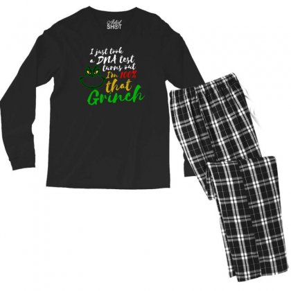 I Just Took A Dna Test Turns Out I'm 100% That Grinch Men's Long Sleeve Pajama Set Designed By Meganphoebe