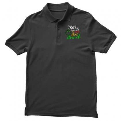 I Just Took A Dna Test Turns Out I'm 100% That Grinch Men's Polo Shirt Designed By Meganphoebe