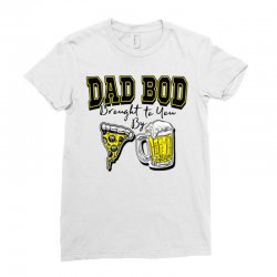 pizza beer equals dad bod Ladies Fitted T-Shirt | Artistshot