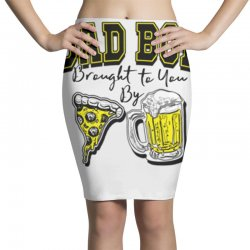 pizza beer equals dad bod Pencil Skirts | Artistshot