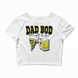 pizza beer equals dad bod Crop Top | Artistshot