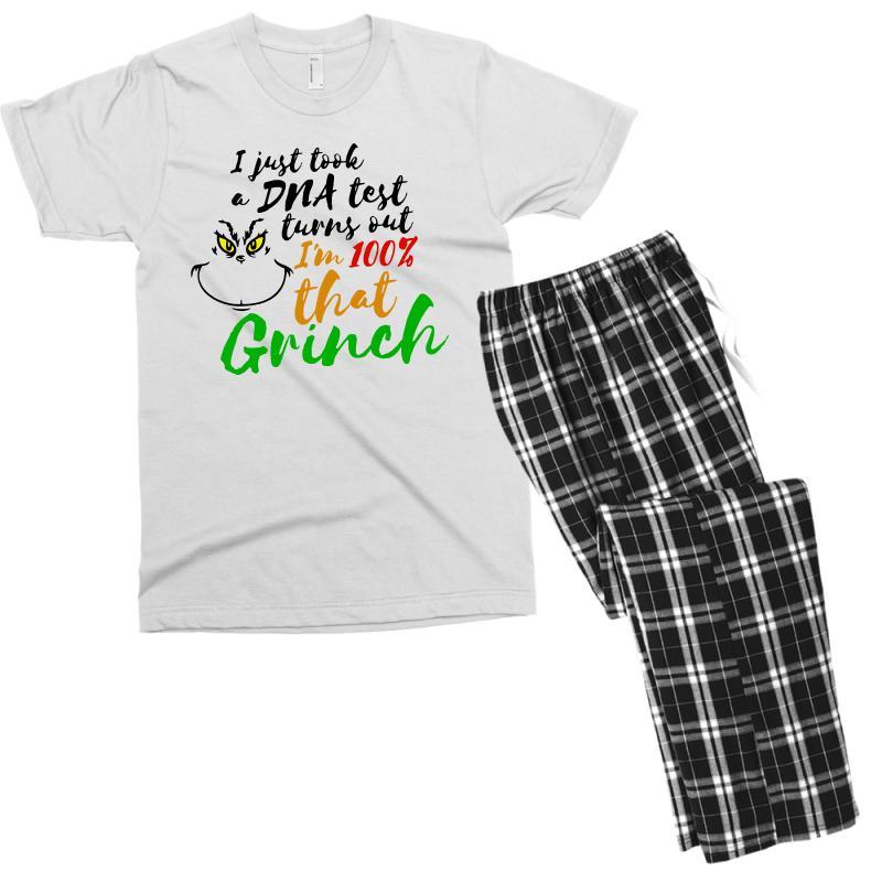 I Just Took A Dna Test Turns Out    I'm 100% That Grinch Men's T-shirt Pajama Set | Artistshot