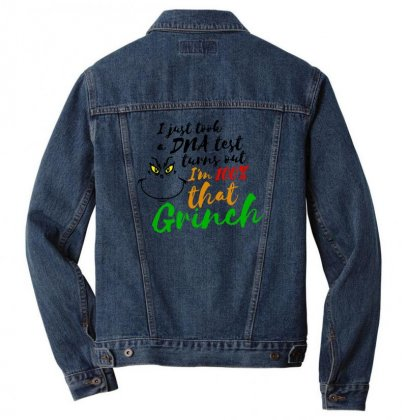 I Just Took A Dna Test Turns Out    I'm 100% That Grinch Men Denim Jacket Designed By Meganphoebe