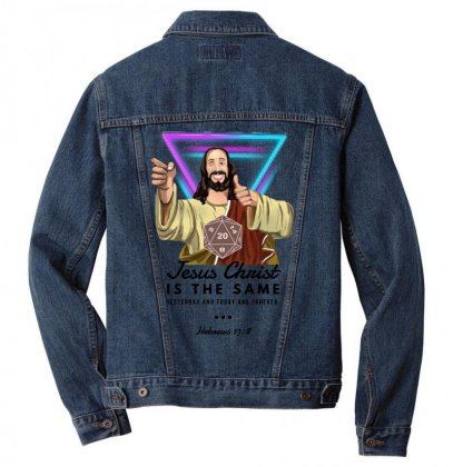Forever Jesus Men Denim Jacket Designed By Meganphoebe