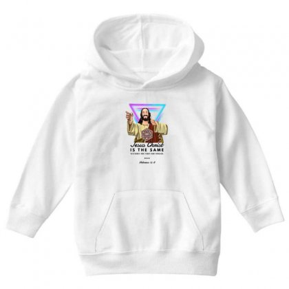 Forever Jesus Youth Hoodie Designed By Meganphoebe
