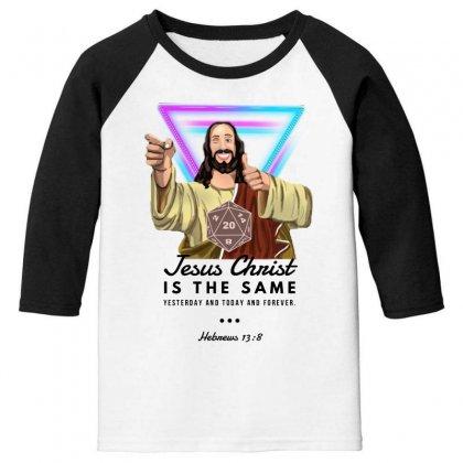 Forever Jesus Youth 3/4 Sleeve Designed By Meganphoebe